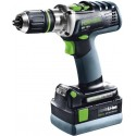 Festool Perceuse-visseuse sans fil DRC 18/4 Li 5,2 Plus QUADRIVE